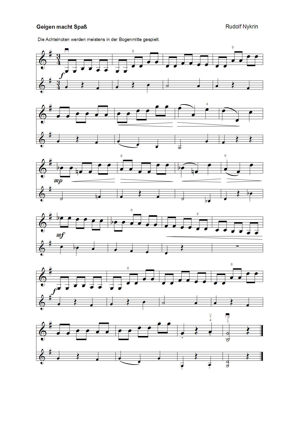 Geigen macht Spass